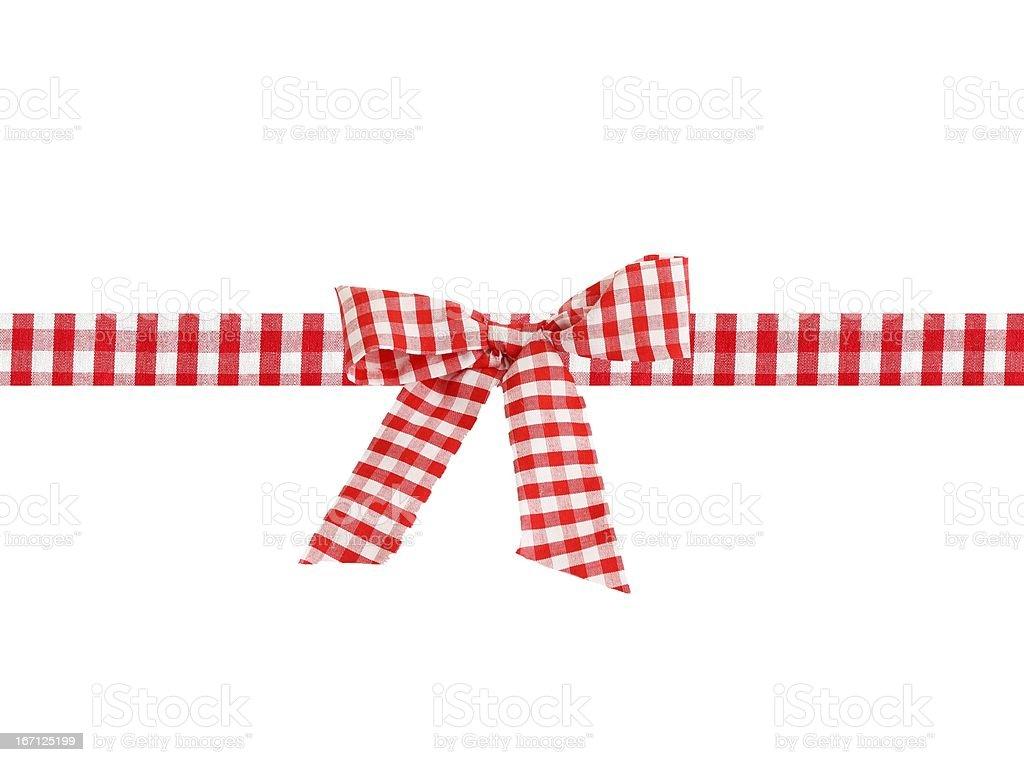 checked ribbon and bow stock photo