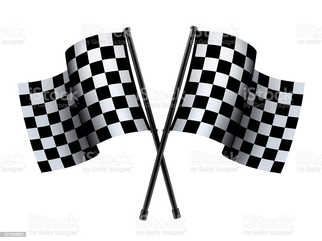 Checked sport flag stock photo