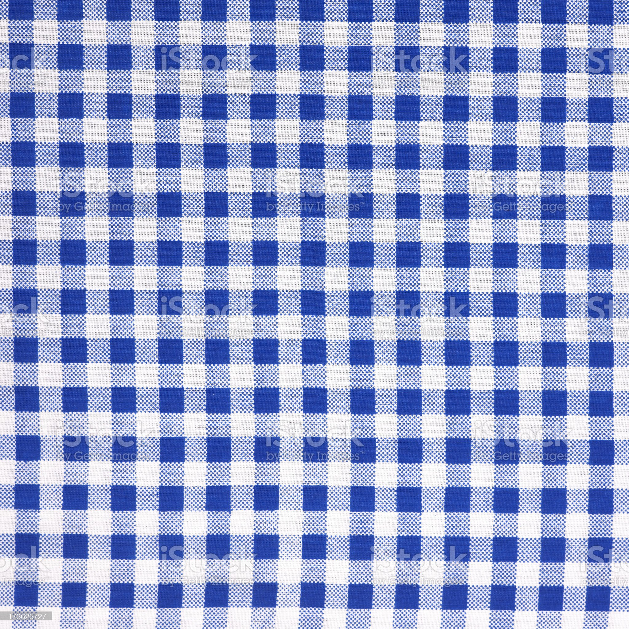 Checked tablecloth royalty-free stock photo