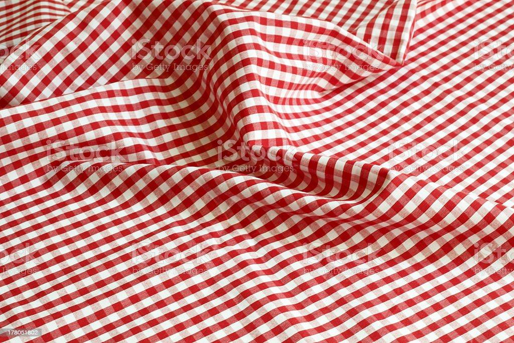 checked tablecloth stock photo