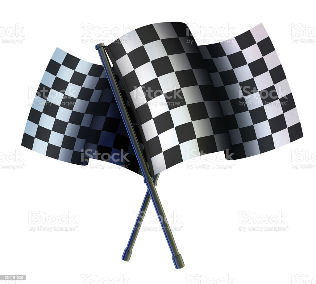 Checked two sport flag stock photo