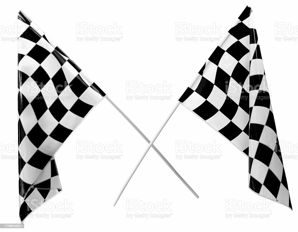 Checker Flags - Not 3D royalty-free stock photo