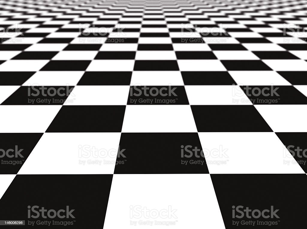 checker floor royalty-free stock photo