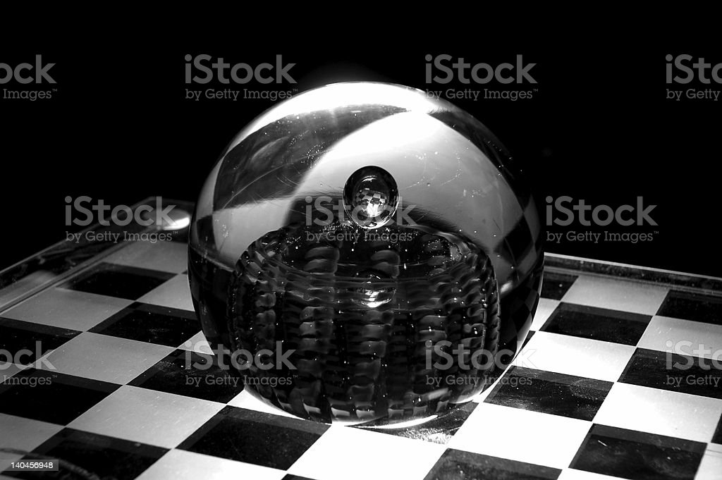 Checker Looking Glass stock photo