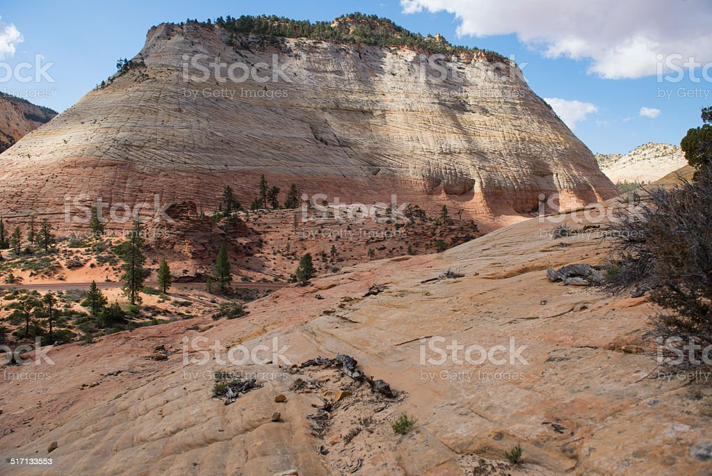 Checkerboard mesa zion national park in utah stock photo