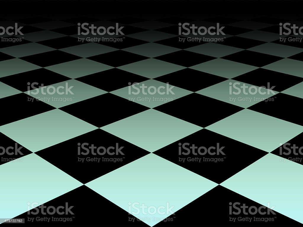 Checkered background floor pattern in perspective stock photo