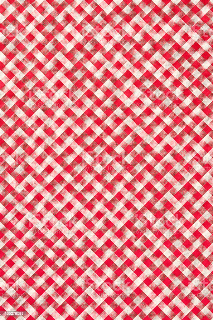 Checkered cloth pattern stock photo