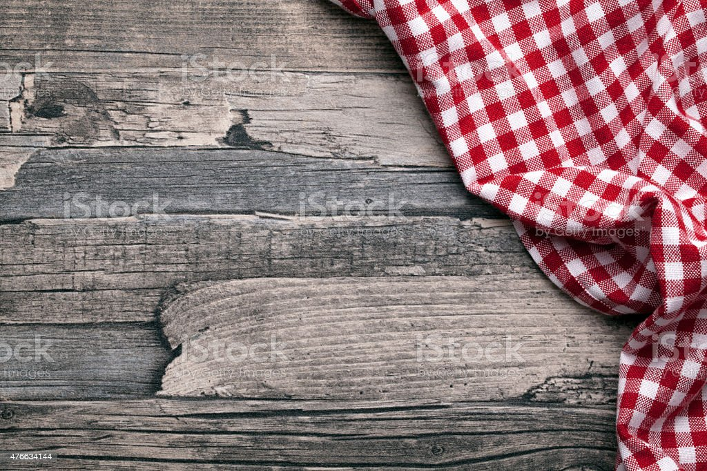 checkered fabric red stock photo
