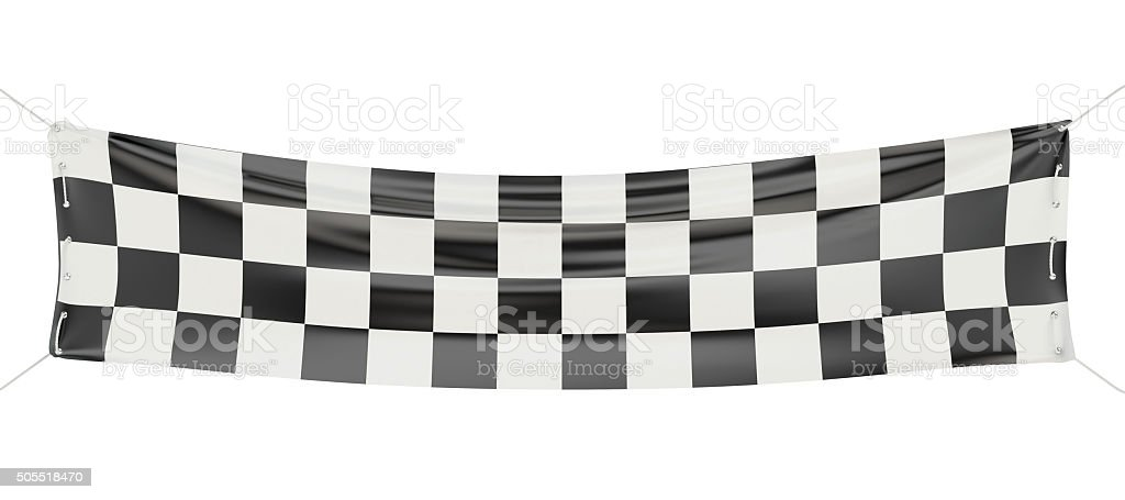 Checkered finish banner stock photo