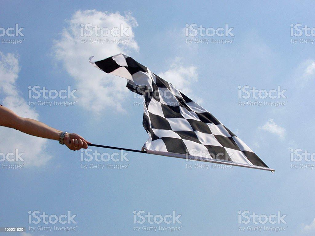 Checkered Flag Finish Line stock photo