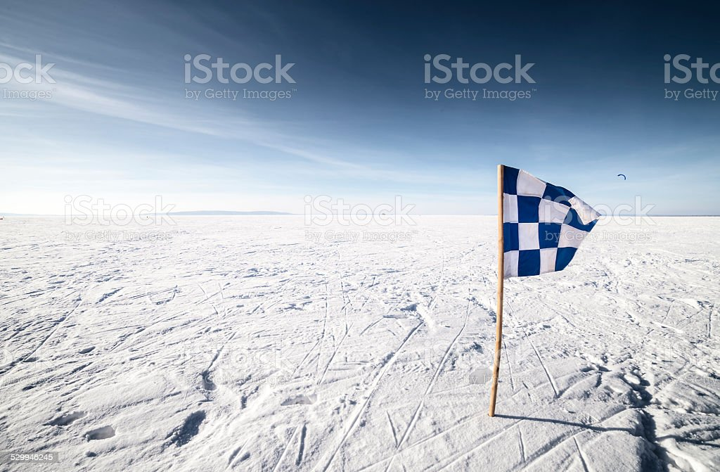 Checkered Flag Finish Line stock photo