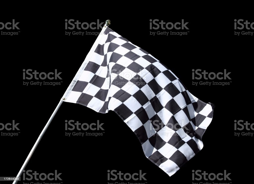 Checkered Flag Isolated stock photo