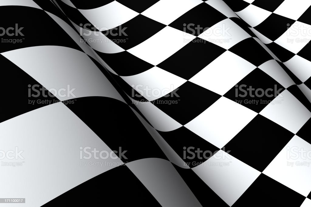 Checkered Flag Macro stock photo