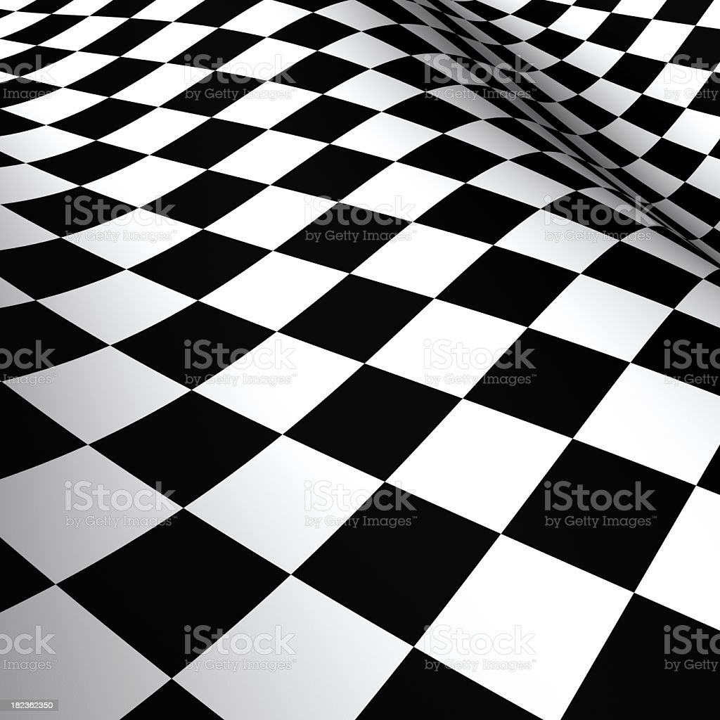Checkered Flag Macro (XXXL) royalty-free stock photo