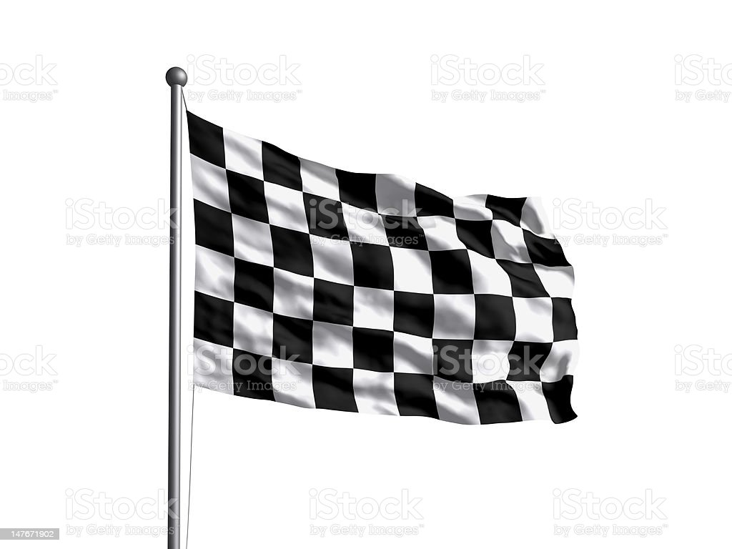 checkered flag (OLD) Newer version available. royalty-free stock photo