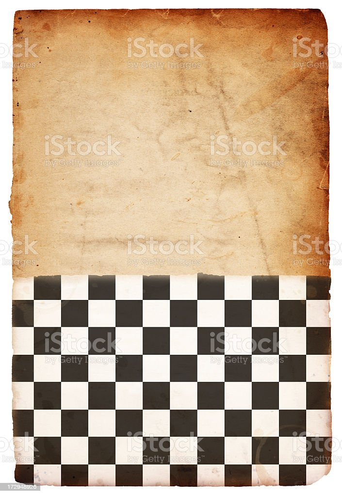 Checkered Flag Paper XXXL royalty-free stock photo