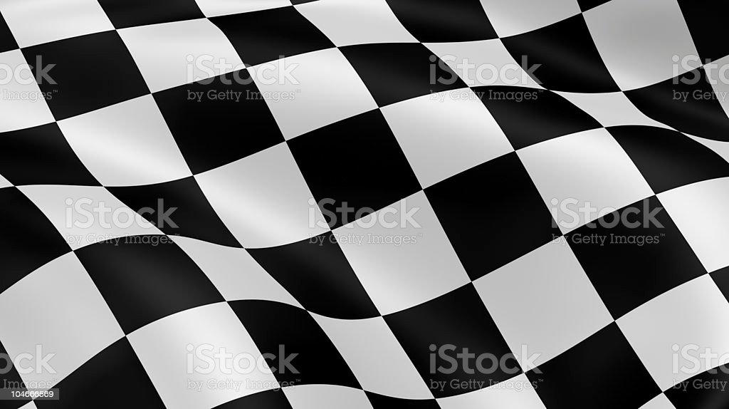 Checkered flag stock photo