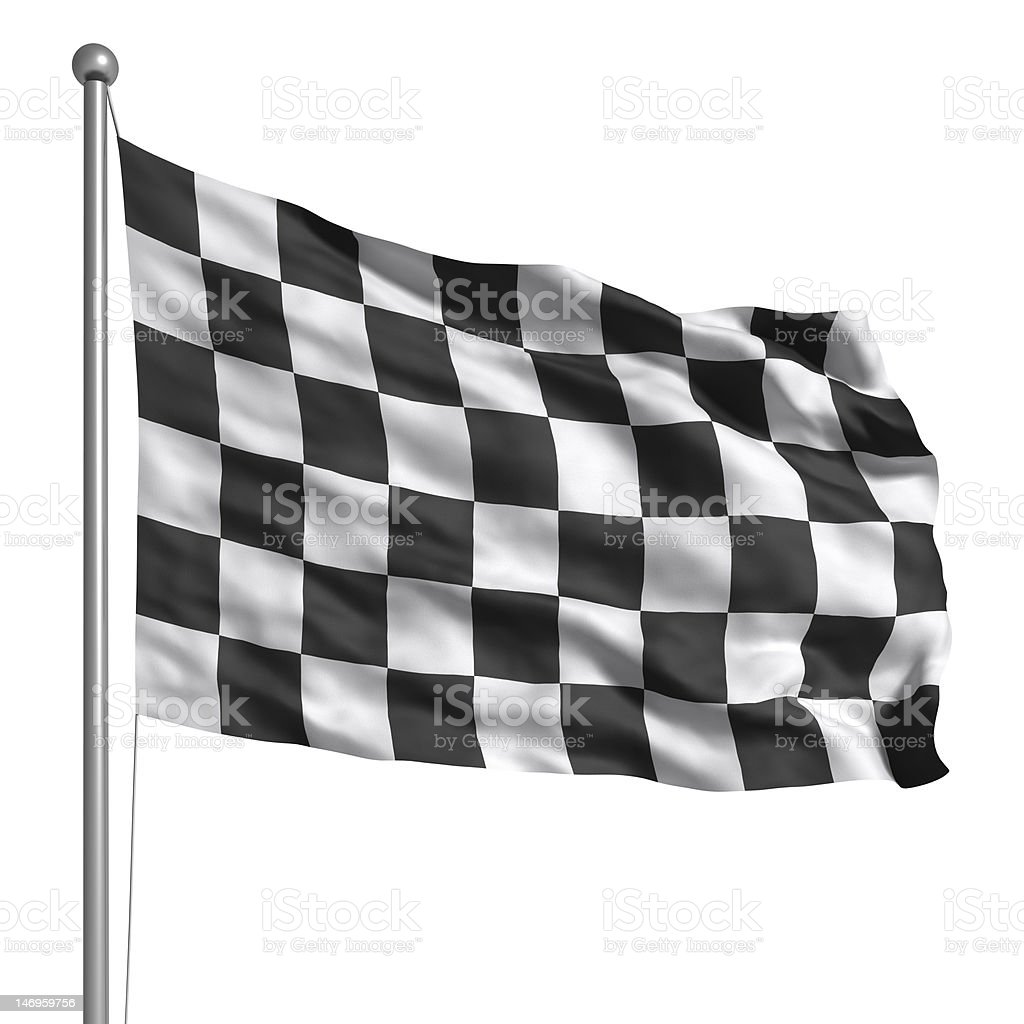 Checkered flag (Isolated) stock photo