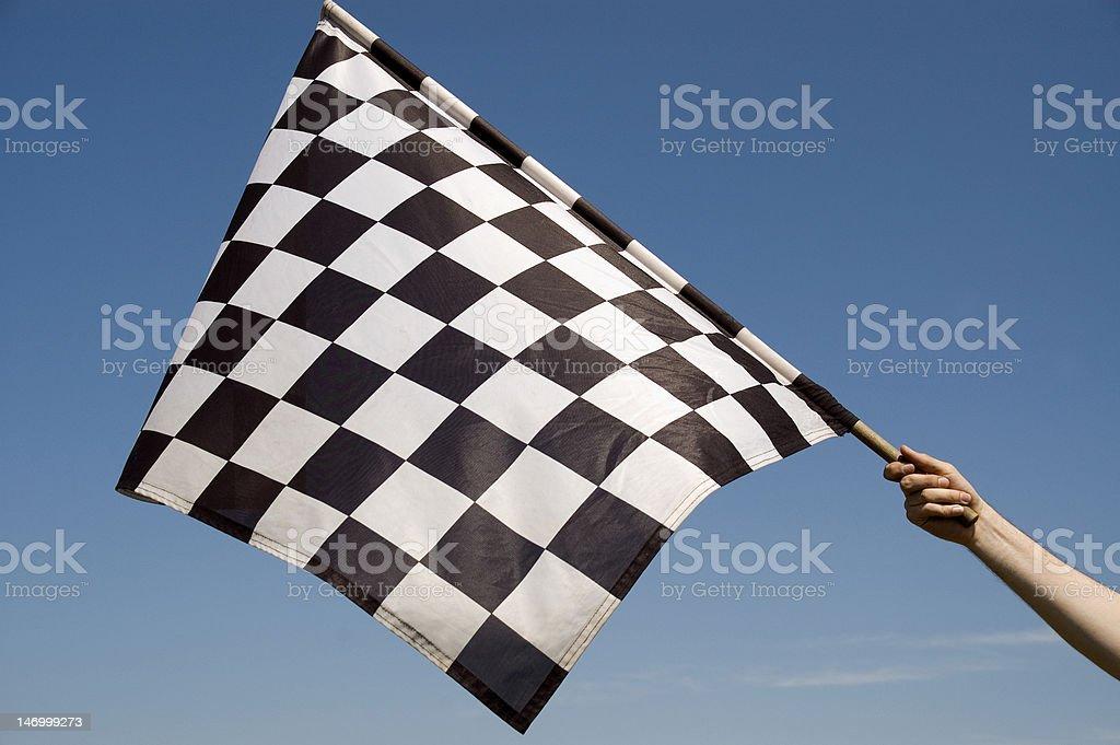 Checkered flag. stock photo