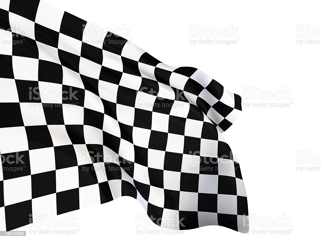 Checkered Flag royalty-free stock photo