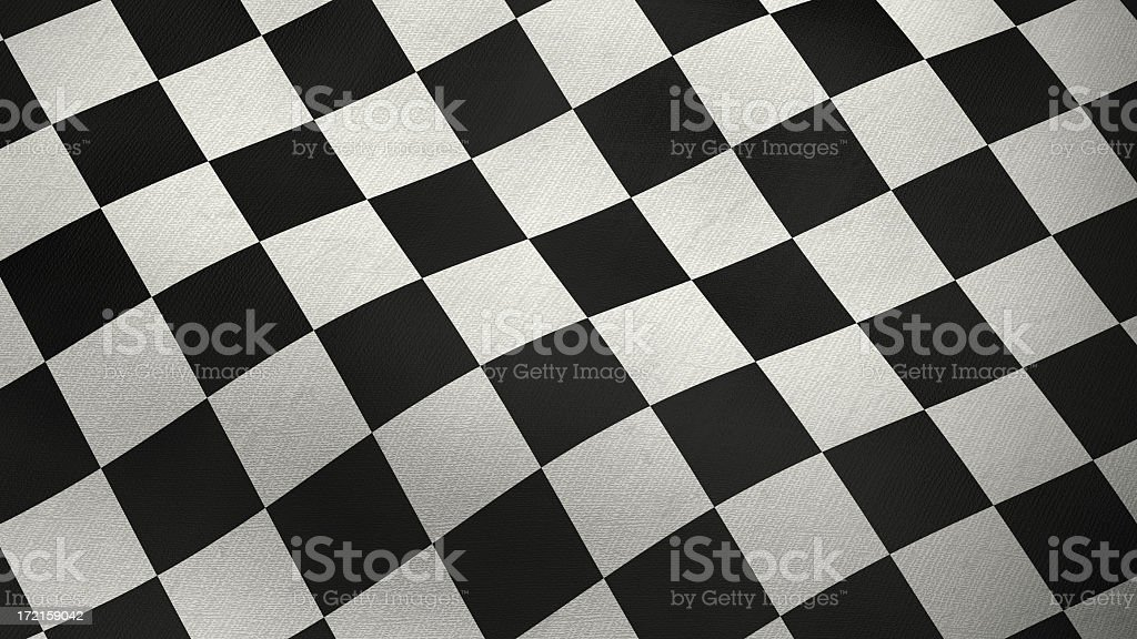 3D checkered flag stock photo