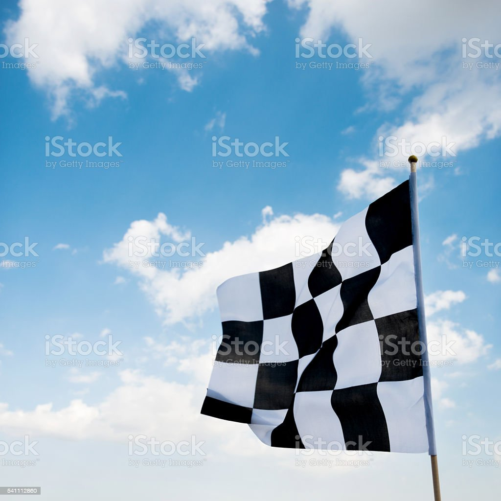 Checkered flag stock photo