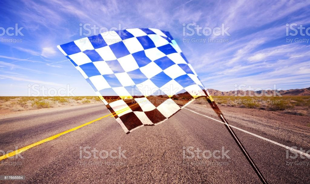 Checkered flag. stock photo