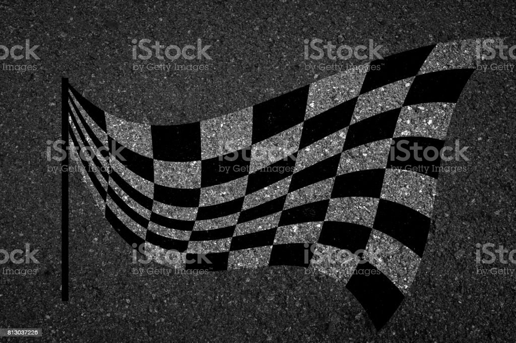 Checkered flag, Sports race symbol. stock photo