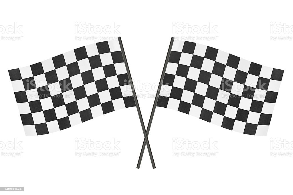 Checkered flags royalty-free stock photo