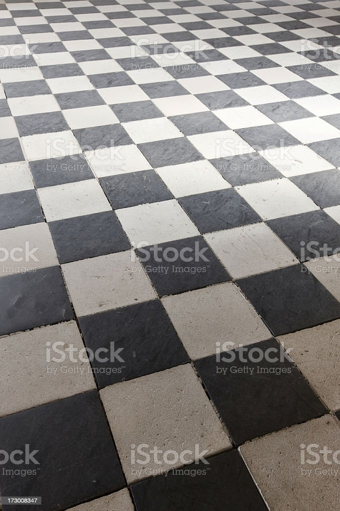 Checkered Floor royalty-free stock photo