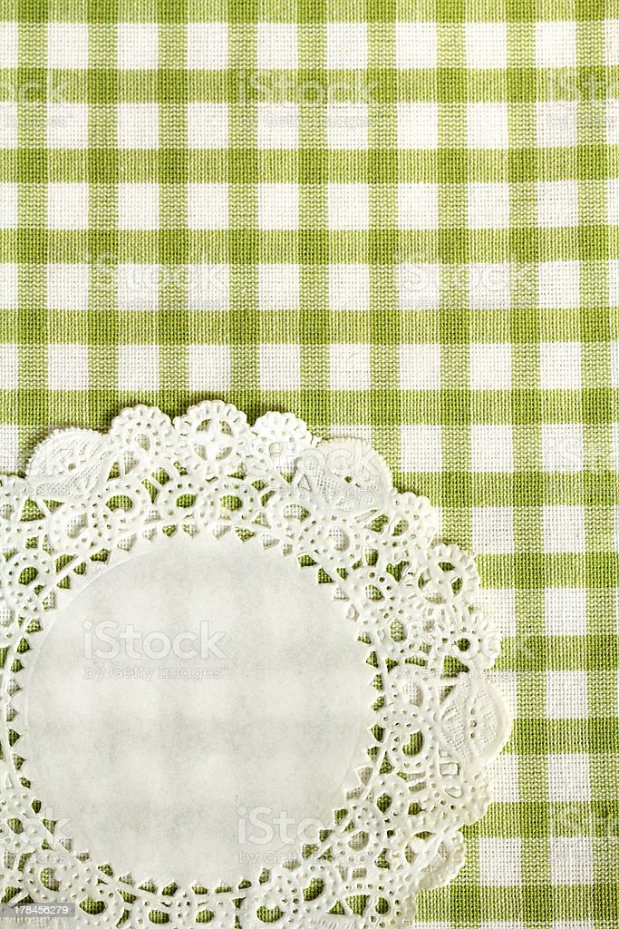checkered green kitchen towel for background royalty-free stock photo