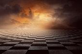 Checkered ground