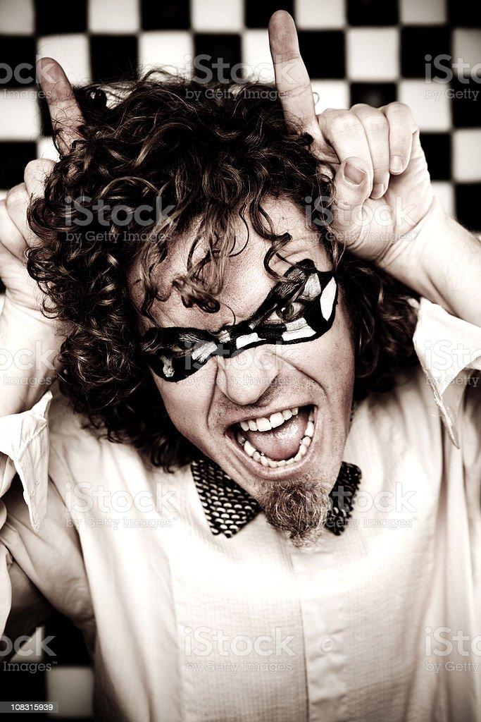 Checkered Man Series: Devil royalty-free stock photo