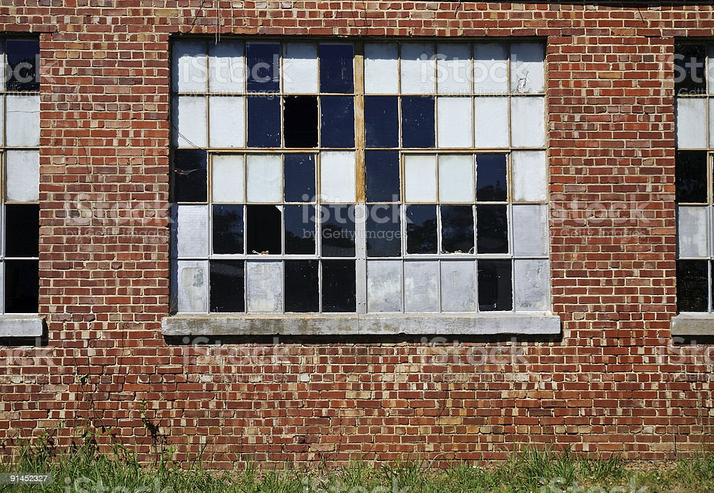 Checkered Past - Old Window royalty-free stock photo