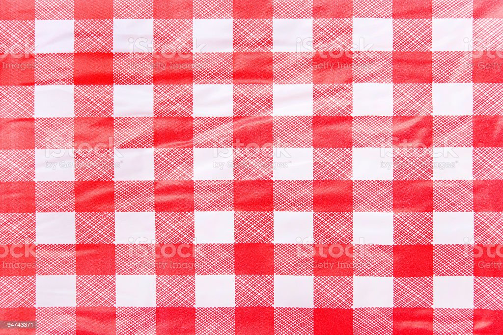 Checkered Picnic Tablecloth stock photo