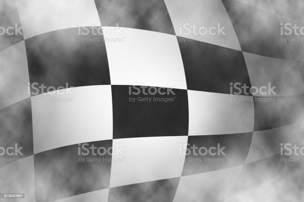 Checkered race flag background, Sports race. stock photo