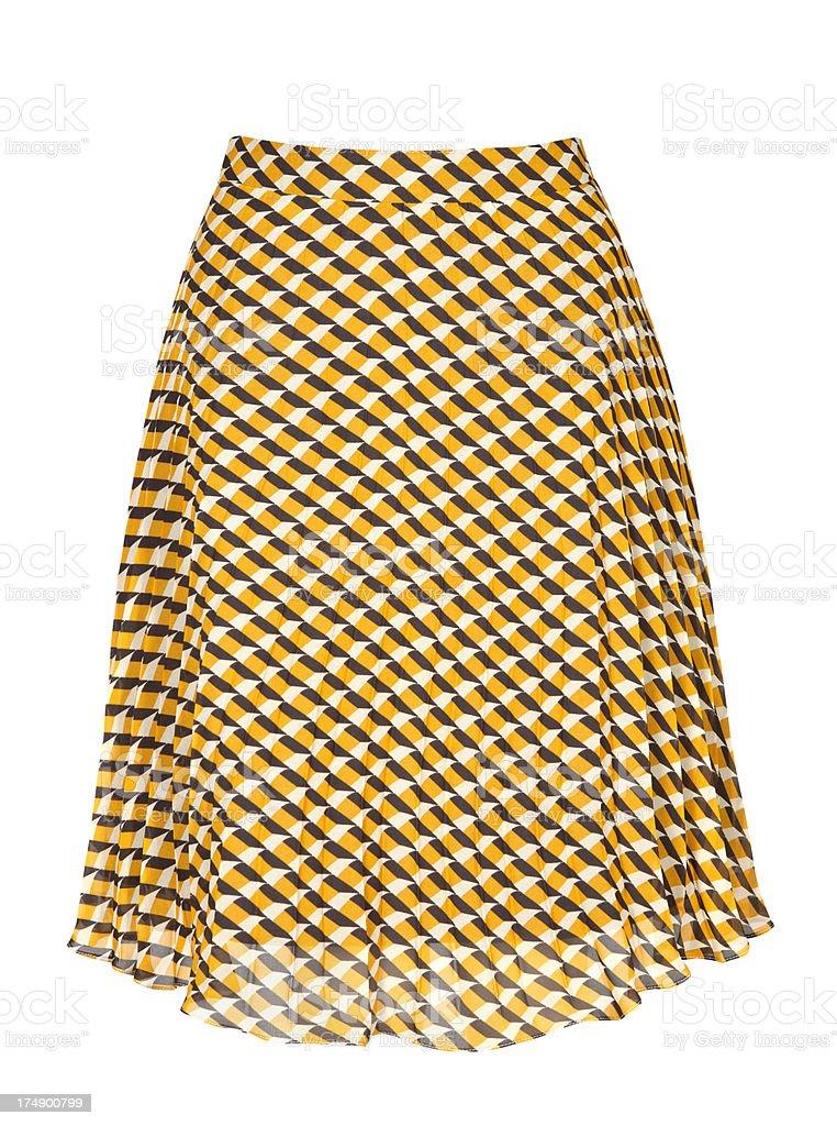checkered skirt royalty-free stock photo