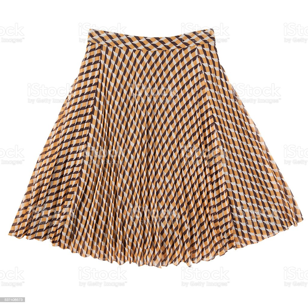 checkered skirt stock photo