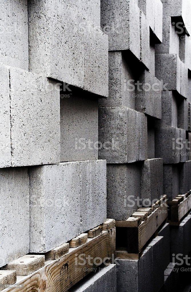 Checkered Stacked Bricks royalty-free stock photo