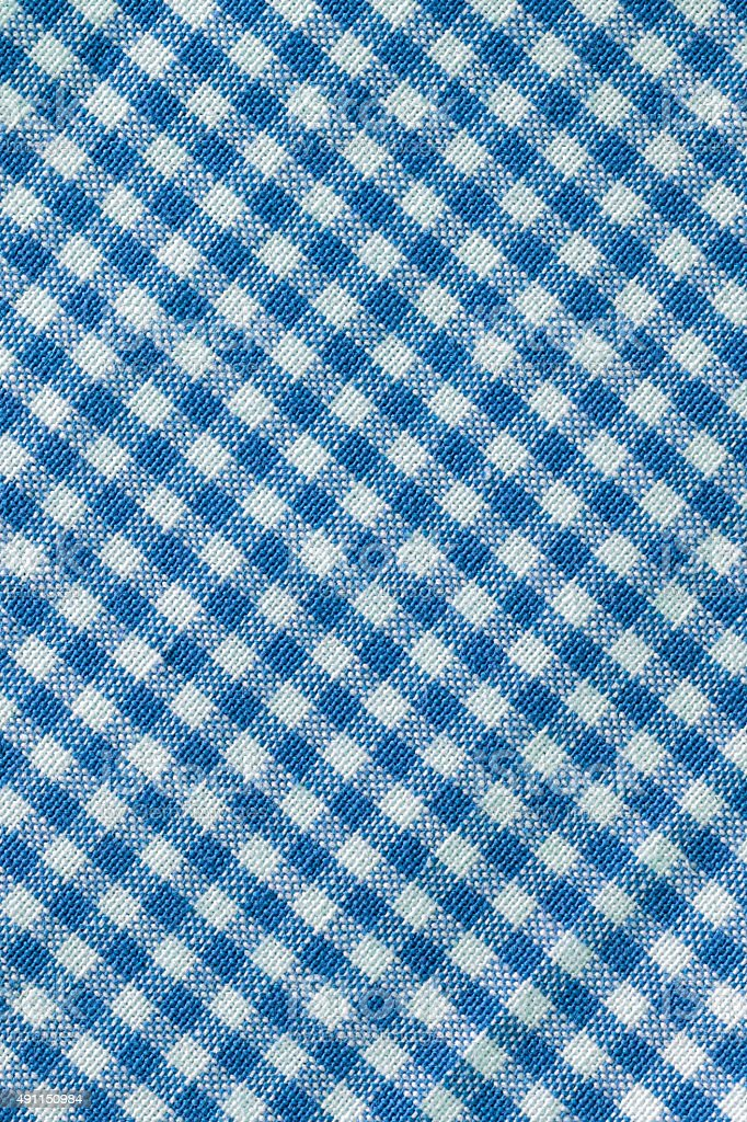 Checkered Tablecloth Background stock photo