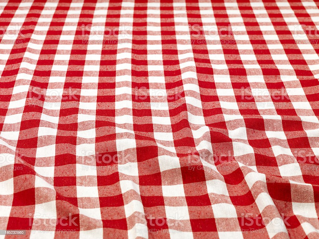 Checkered Tablecloth (Click for more) stock photo