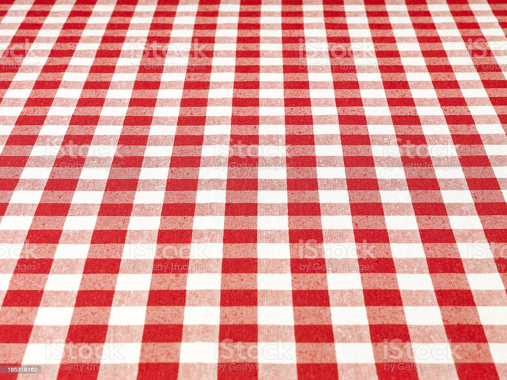 Checkered Tablecloth stock photo