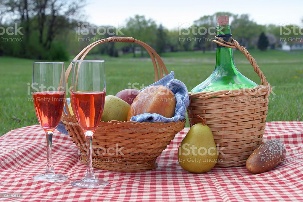 Checkered Tablecloth royalty-free stock photo
