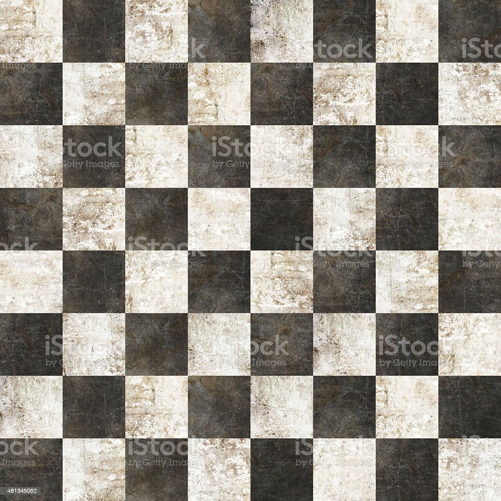 checkered tiles seamless with black and white marble effect stock photo