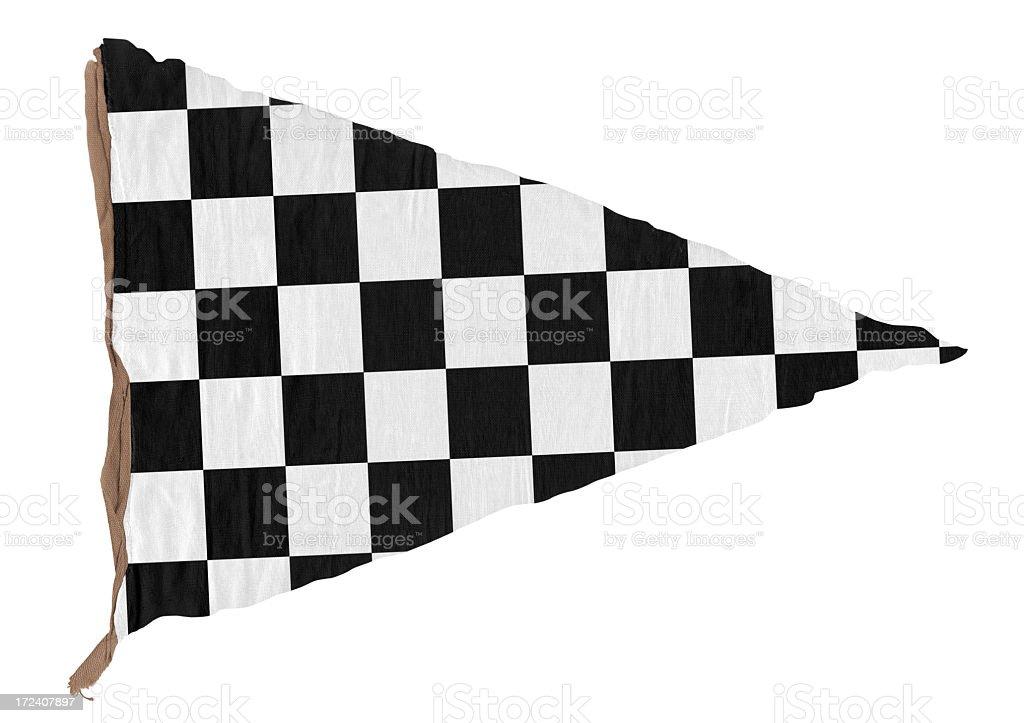 Checkered Triangle Pennant (XXL) royalty-free stock photo