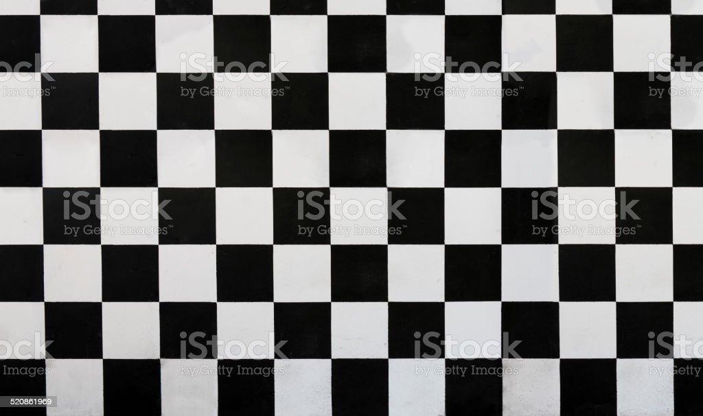 Checkered wall stock photo