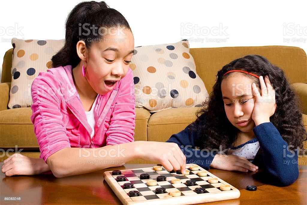 Checkers Jump royalty-free stock photo