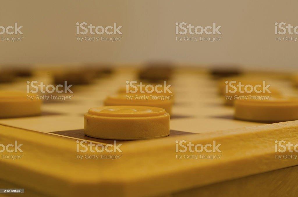 Checkers stock photo