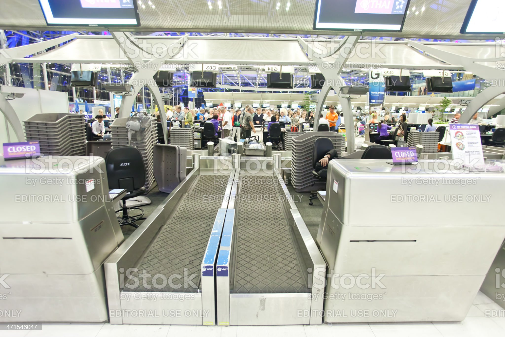 check-in counter royalty-free stock photo