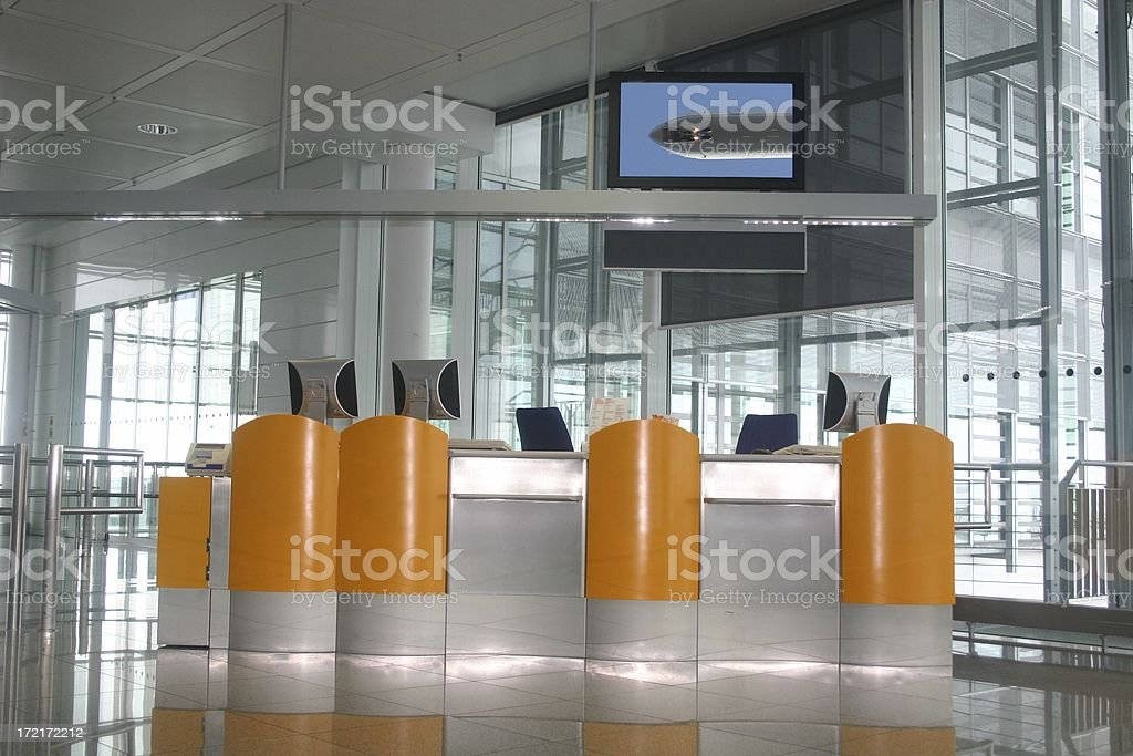 Checkin counters stock photo